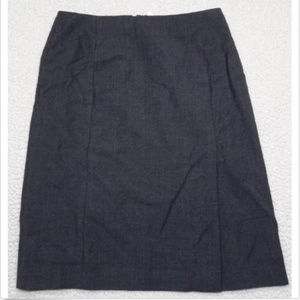 J Crew Super 100's Size 8 Lined Skirt 100% Wool